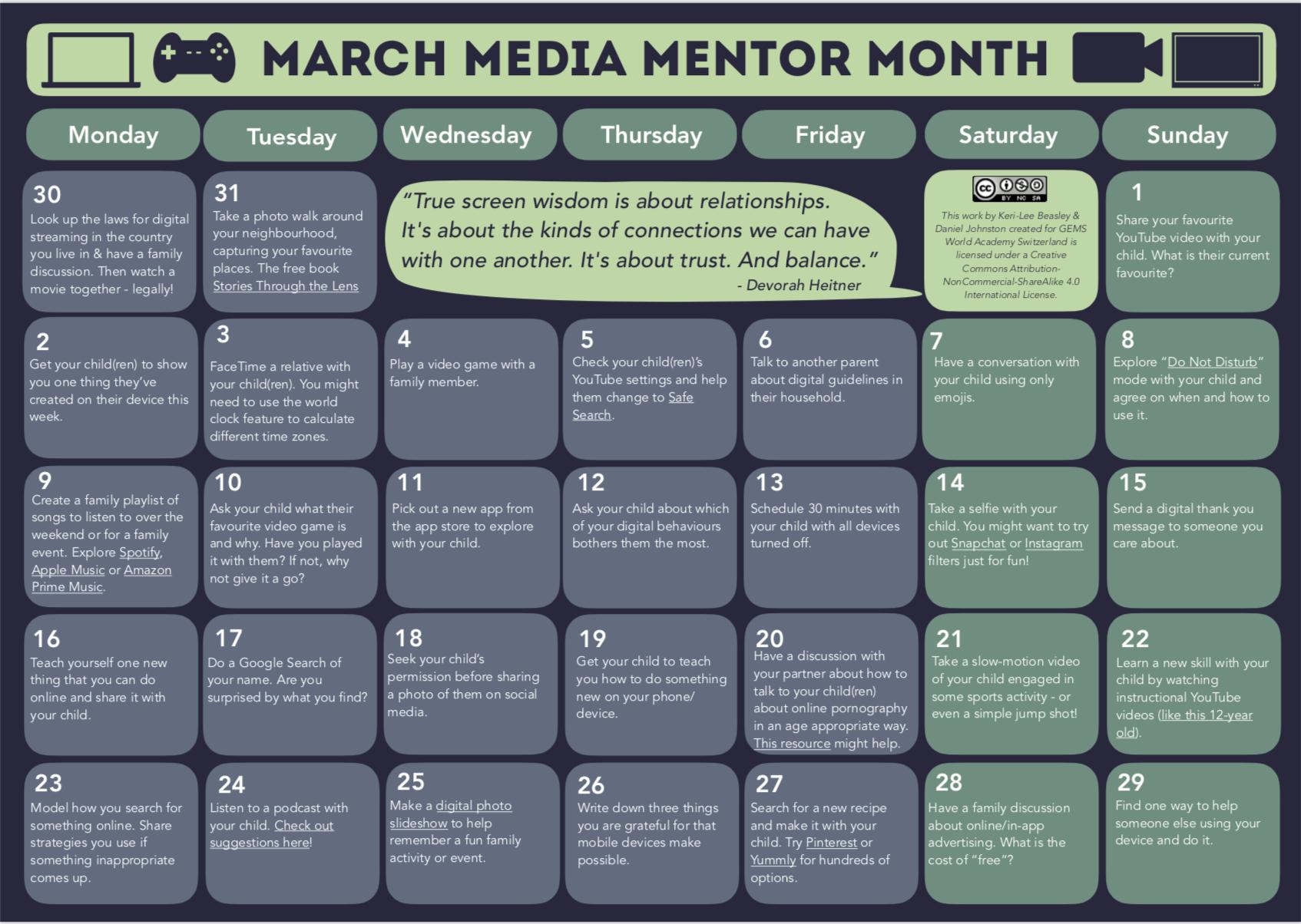 Media Mentor Month 2020